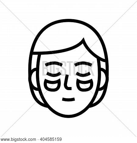 Eye Patches Line Icon Vector. Eye Patches Sign. Isolated Contour Symbol Black Illustration