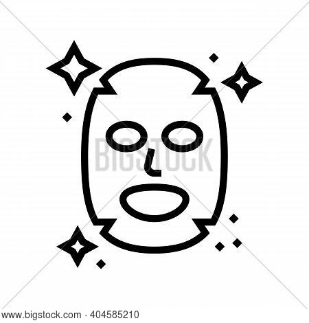 Facial Mask Line Icon Vector. Facial Mask Sign. Isolated Contour Symbol Black Illustration