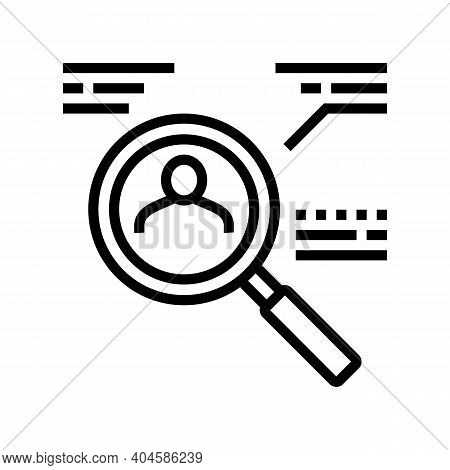 Candidate Research Line Icon Vector. Candidate Research Sign. Isolated Contour Symbol Black Illustra
