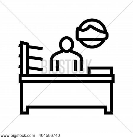Shoes Seller Line Icon Vector. Shoes Seller Sign. Isolated Contour Symbol Black Illustration