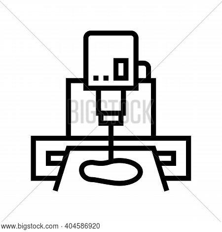 Sole Cut Machine Line Icon Vector. Sole Cut Machine Sign. Isolated Contour Symbol Black Illustration