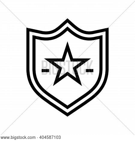 Favorite Place Sign Line Icon Vector. Favorite Place Sign Sign. Isolated Contour Symbol Black Illust