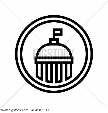 Government Service Sign Line Icon Vector. Government Service Sign Sign. Isolated Contour Symbol Blac