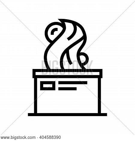 Art Sculpture Line Icon Vector. Art Sculpture Sign. Isolated Contour Symbol Black Illustration