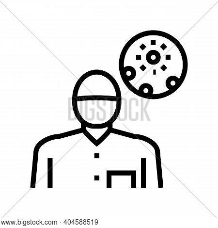 Dermatology Medical Specialist Line Icon Vector. Dermatology Medical Specialist Sign. Isolated Conto