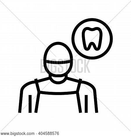 Stomatology Medical Specialist Line Icon Vector. Stomatology Medical Specialist Sign. Isolated Conto