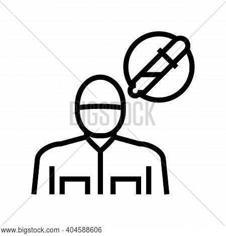 Allergy And Immunology Medical Specialist Line Icon Vector. Allergy And Immunology Medical Specialis