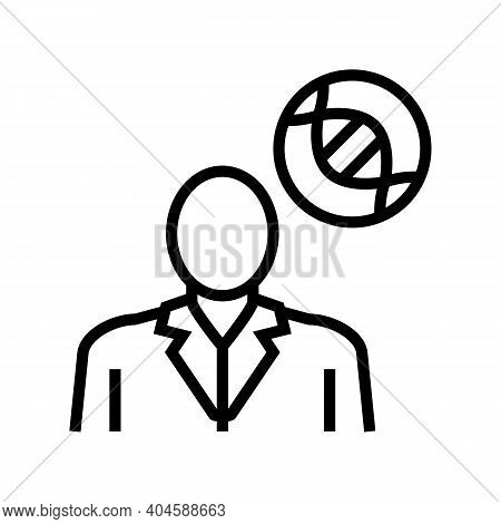Oncology Medical Specialist Line Icon Vector. Oncology Medical Specialist Sign. Isolated Contour Sym
