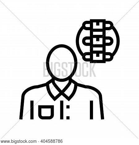 Rheumatology Medical Specialist Line Icon Vector. Rheumatology Medical Specialist Sign. Isolated Con