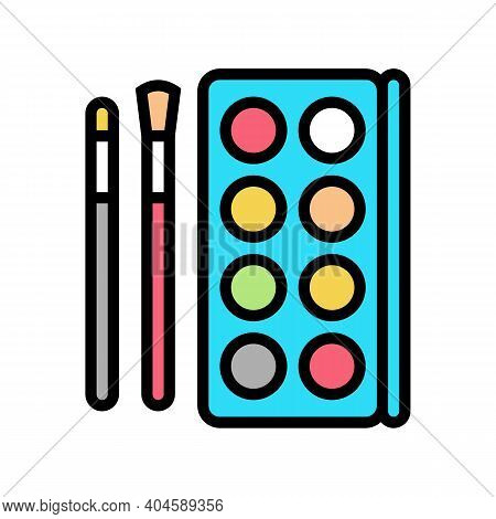 Make-up Cosmetics And Tools Color Icon Vector. Make-up Cosmetics And Tools Sign. Isolated Symbol Ill