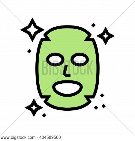 Facial Mask Color Icon Vector. Facial Mask Sign. Isolated Symbol Illustration