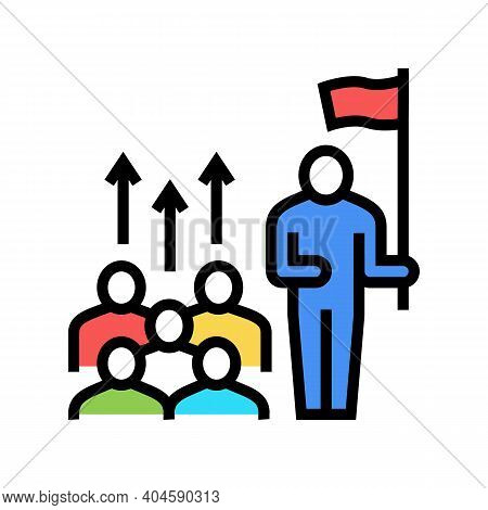 Leadership Team Color Icon Vector. Leadership Team Sign. Isolated Symbol Illustration