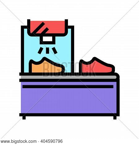 Shoes Painting Equipment Color Icon Vector. Shoes Painting Equipment Sign. Isolated Symbol Illustrat