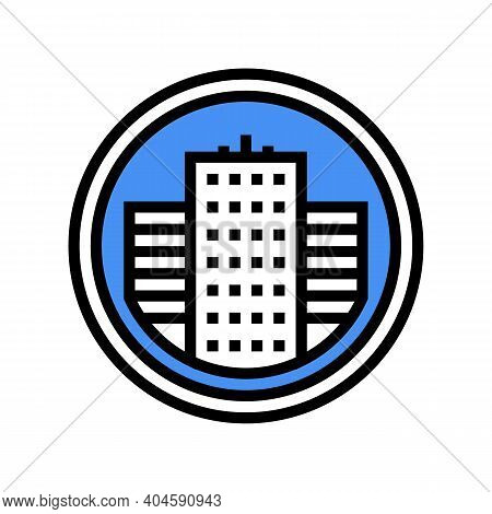City Business Center Sign Color Icon Vector. City Business Center Sign Sign. Isolated Symbol Illustr