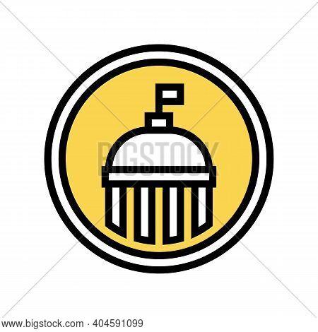 Government Service Sign Color Icon Vector. Government Service Sign Sign. Isolated Symbol Illustratio
