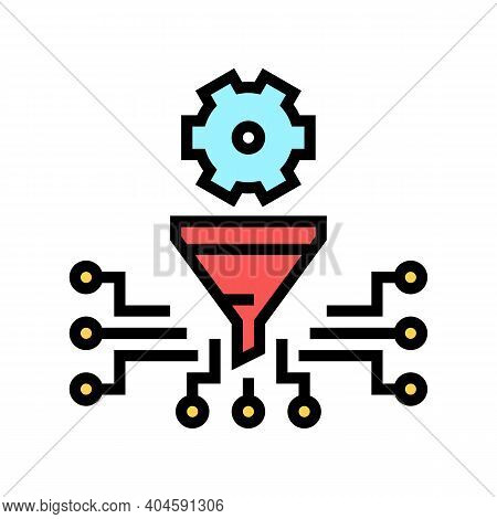 Work Process Filtration Color Icon Vector. Work Process Filtration Sign. Isolated Symbol Illustratio