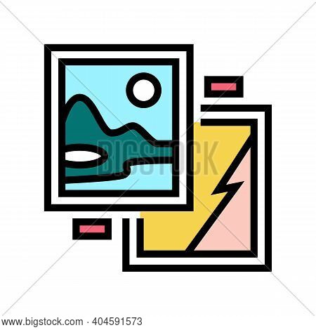 Paintings Museum Exhibit Color Icon Vector. Paintings Museum Exhibit Sign. Isolated Symbol Illustrat