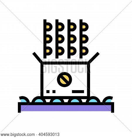Medicine Pills Packaging Color Icon Vector. Medicine Pills Packaging Sign. Isolated Symbol Illustrat