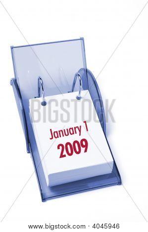 Calendario de escritorio en blanco