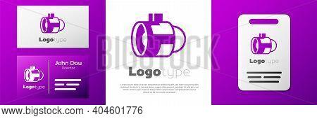 Logotype Jet Engine Turbine Icon Isolated On White Background. Plane Turbine. Airplane Equipment. Je