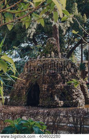 Seville, Spain - January 19, 2020: Grotto In Garden Of The Cross (jardin De La Cruz) In Alcazar Of S