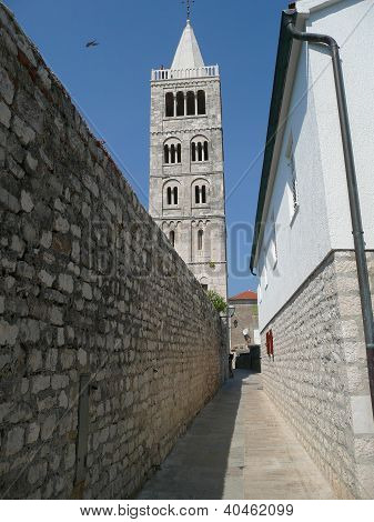 street to bell tower