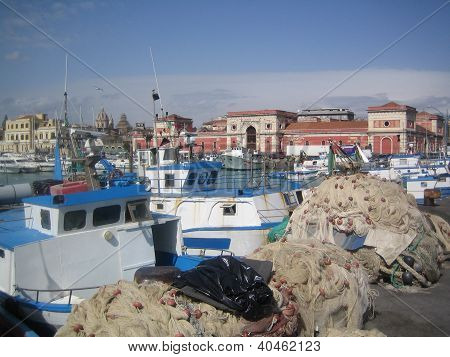 fishing port in catania