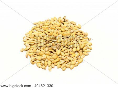 Studio Shot Winter Melon Wax Gourd Seeds Isolated On White Background