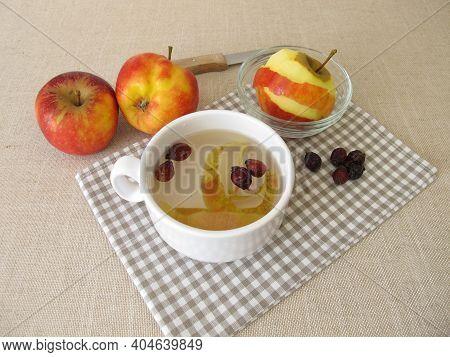 Apple Peel Tea With Dried Rose Hips
