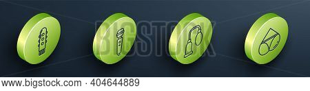 Set Isometric Dildo Vibrator, Dildo Vibrator, Penis Pump And Woman Panties Icon. Vector