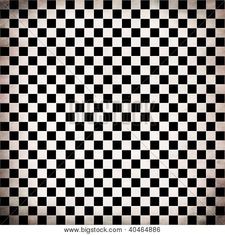 Grunge Checker Board