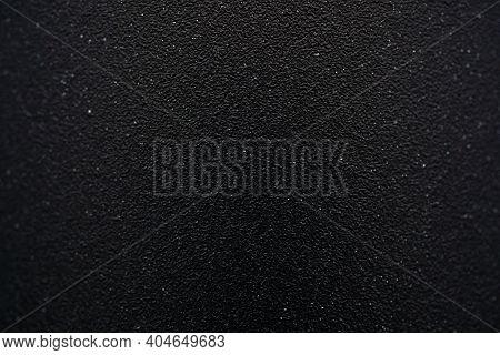 Close Up Full Frame Shot Black Matte Metallic Texture Metal Background