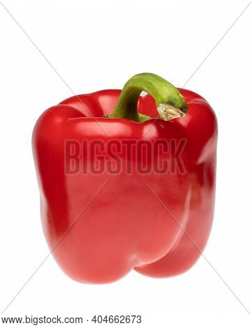Paprika. Pepper Red. Bell Pepper Isolated. Sweet Red Peppers. With Clipping Path. Selective Focus Im