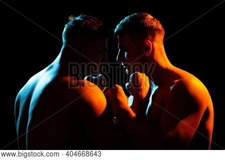 Conflict Angry Men. Strong And Power Mans Hand. Fighting, Conflict And Bullying. Aggression And Abus