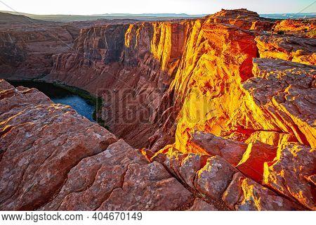 Grand Canyon Page Arizona. Western Usa. Colorado River That Runs Through Canyonlands National Park.