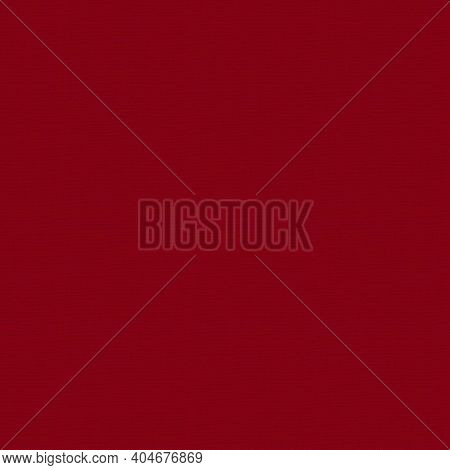Seamless Factory Fabric Of Red Color . Close-up Long And Wide Texture Of Natural Red Fabric. Fabric