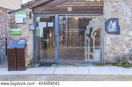 Banos De Montemayor, Spain - Jan 2nd, 2021: Silver Route Interpretation Centre Of Banos De Montemayo