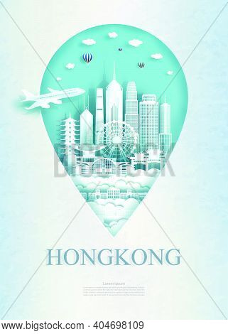 Travel Hong Kong Architecture Monument Pin In Asia With Ancient And City Modern Building Business Tr