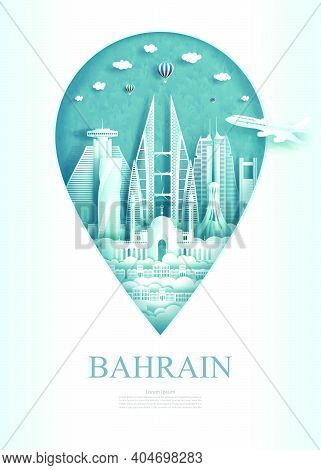 Pointer Of Bahrain, Travel Landmark Bahrain Monument Architecture Modern And Ancient Of Manama In Pi