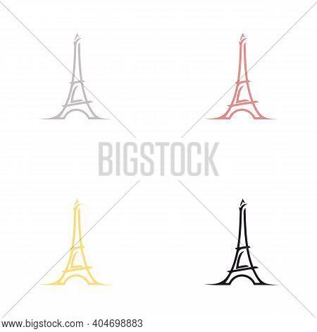 France Paris Eiffel Tower  Logo Design Inspiration