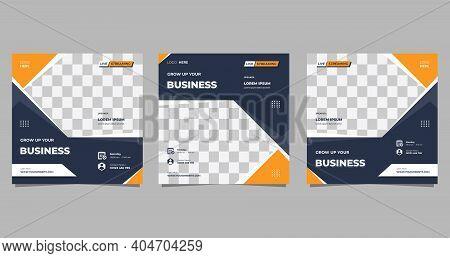 Set Of Social Media Post Template For Business Webinar, Marketing Webinar, Online Education And Othe