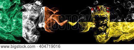Republic Of Ireland, Irish Vs Germany, German, Deutschland, Baden Wurttemberg Smoky Mystic Flags Pla