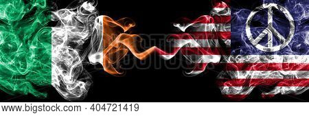 Republic Of Ireland, Irish Vs United States Of America, America, Us, Usa, American, Peace Smoky Myst