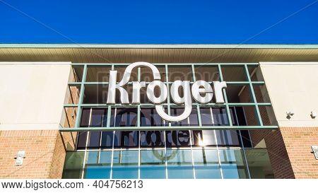 Novi, Michigan -January 23,2021 : Kroger store in Novi, Michigan sold one billion dollar Mega millions jackpot lottery ticket , third largest lottery prize in history.