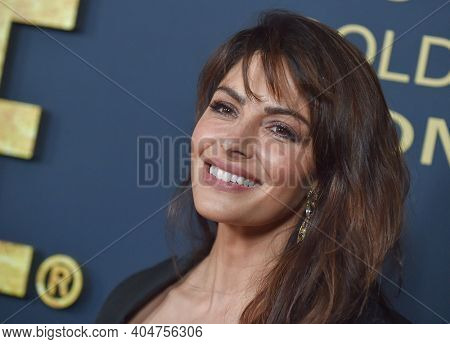 LOS ANGELES - JAN 05:  Actress Sarah Shahi arrives for Showtime Golden Globe Nominee Celebration Premiere on January 05, 2019 in West Hollywood, CA