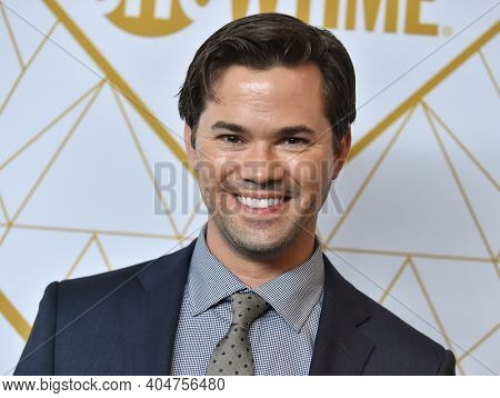 LOS ANGELES - SEP 21:  Andrew Rannells arrives for Showtime Celebrates Emmy Eve on September 21, 2019 in West Hollywood, CA