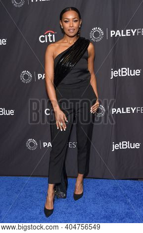 LOS ANGELES - MAR 24:  Melanie Liburd arrives for PaleyFest 2019 - This Is Us on March 24, 2019 in Hollywood, CA