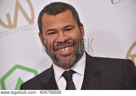 LOS ANGELES - JAN 19:  Producer Jordan Peele arrives for the 30th Annual Producers Guild Awards on January 19, 2019 in Beverly Hills, CA