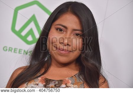 LOS ANGELES - JAN 19:  Actress Yalitza Aparicio arrives for the 30th Annual Producers Guild Awards on January 19, 2019 in Beverly Hills, CA