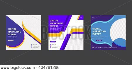 Digital Marketing Agency Business Social Media Post Template Design. Advertising Sale Banner Templat